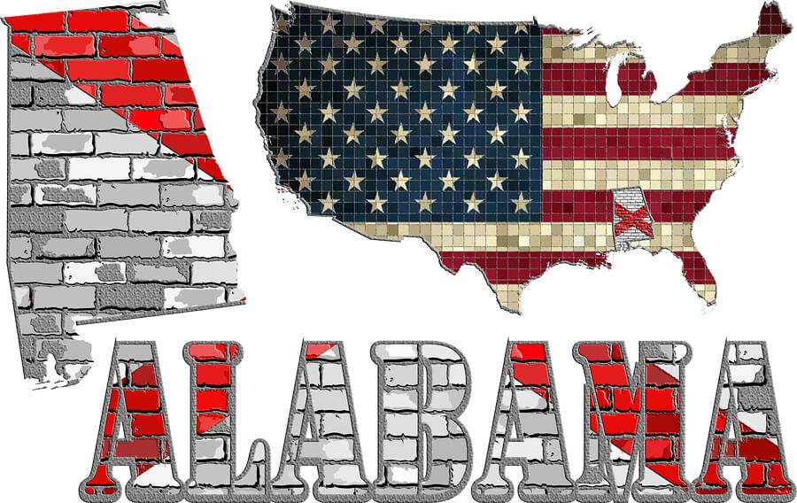 Picture of the USA and Alabama Jobs.