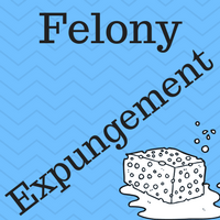 "Image of a sponge and the caption ""Felony Expungement."""