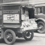 Picture of a newspaper delivery truck.