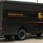 Picture of the UPS logo and a UPS truck.