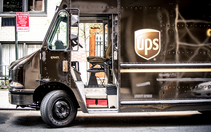 Picture of a UPS truck.