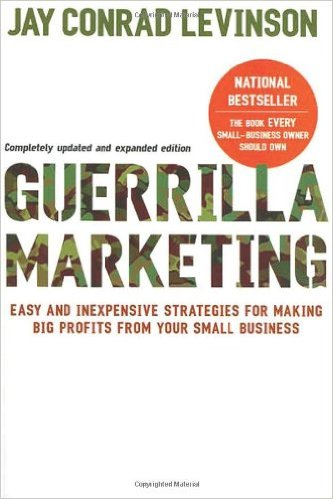 Picture of the book Guerrilla Marketing.