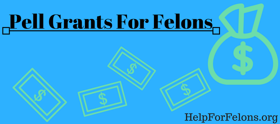 "Infographic ""Pell grants for felons."" A bag of money with dollars falling out of it."