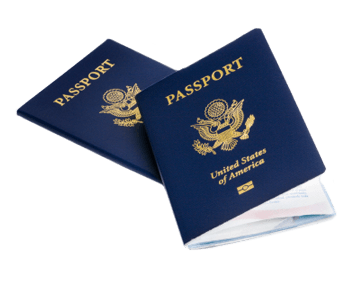 Picture of a US Passport.