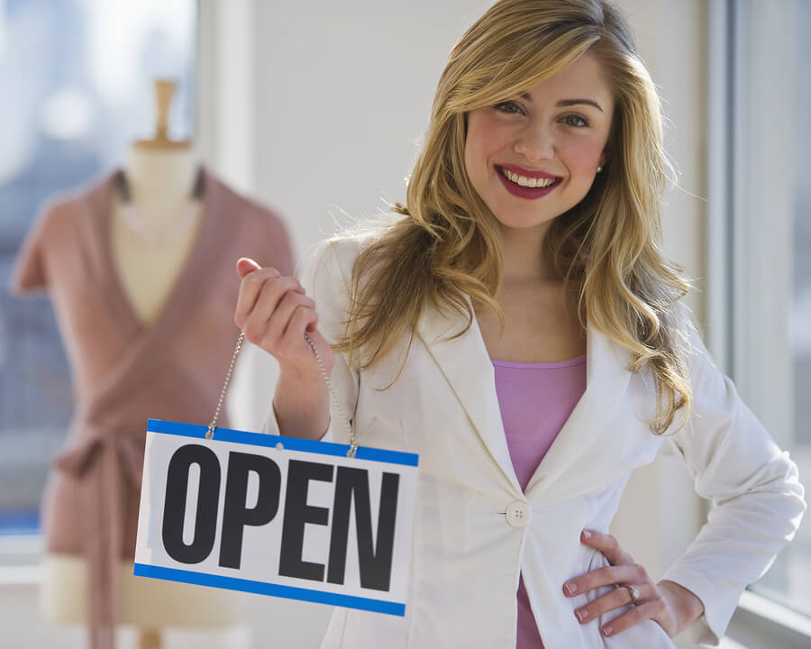 Picture of a small business opening.