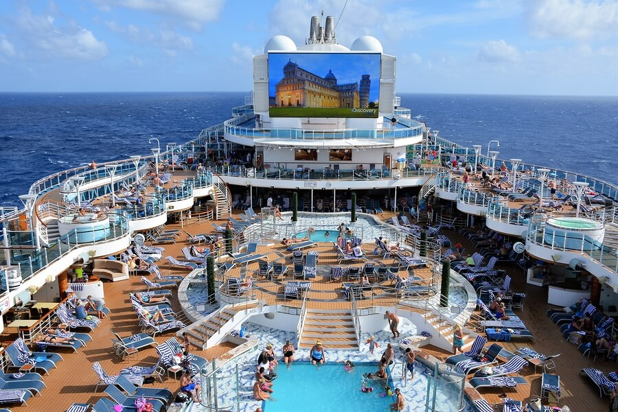 Picture of a cruise ship deck that may have felons aboard.