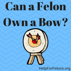 "Image of an archery target with the caption ""Can a felon own a bow?"""