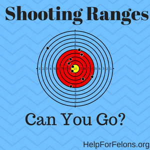 "Picture of a shooting range target and the caption ""Can a felon go to a shooting range?"""