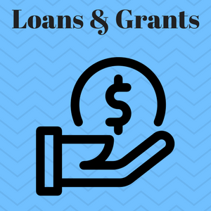 "Image of a a hand holding a loan with the caption ""loans and grants for felons."""