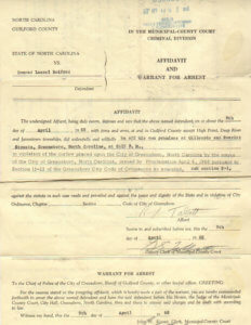 Image of an Arrest Warrant.