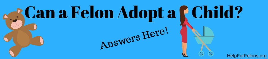 """Image of a child and a baby that want adopted. The caption reads """"Can a felon adopt a child? Answered!."""""""