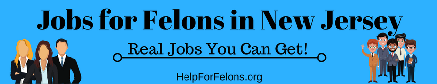 "Image of felons dressed up to get a jobs. The caption reads ""Jobs for Felons in New Jersey."""