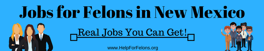 "Image of felons going to work, the caption reads ""Jobs for Felons in New Mexico."""